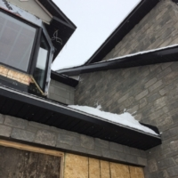 Ottawa Eavestrough Soffit, fascia, and brick siding in Gloucester